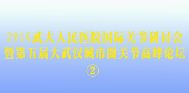<b>2016武大人民医院国际关节研讨会②</b>